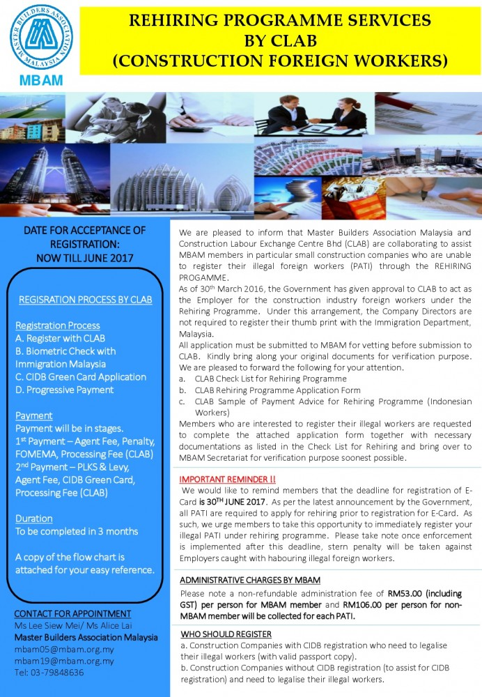Brochure - Rehiring Programme Service by CLAB-001