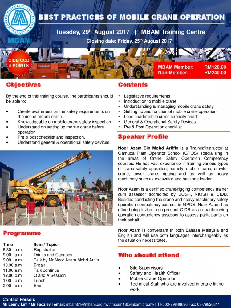 290817Flyer - Best Practices of Mobile Crane Operation_CCD-001