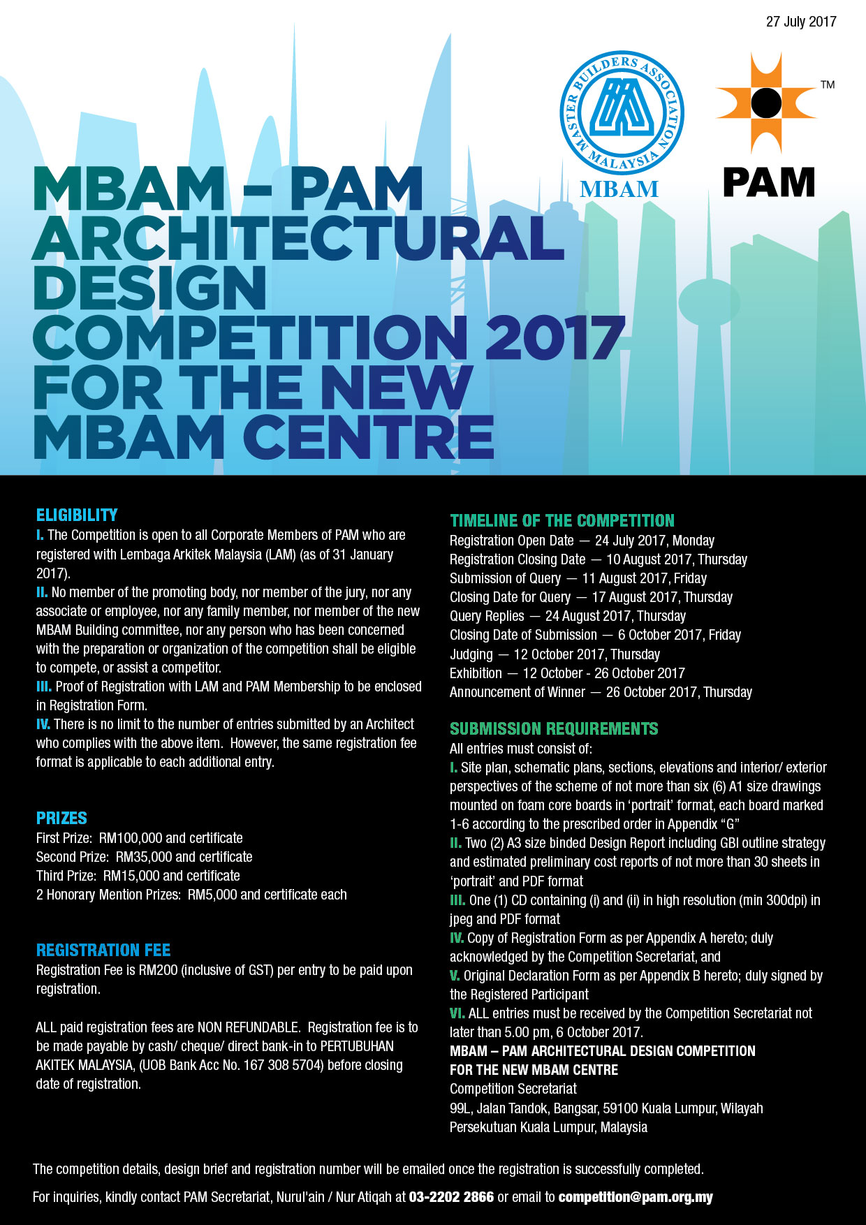 Architectural Design Competition Master Builders Association