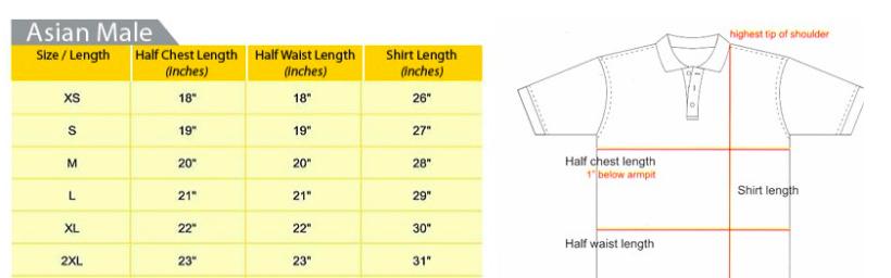 Maxtex Size Chart - Male