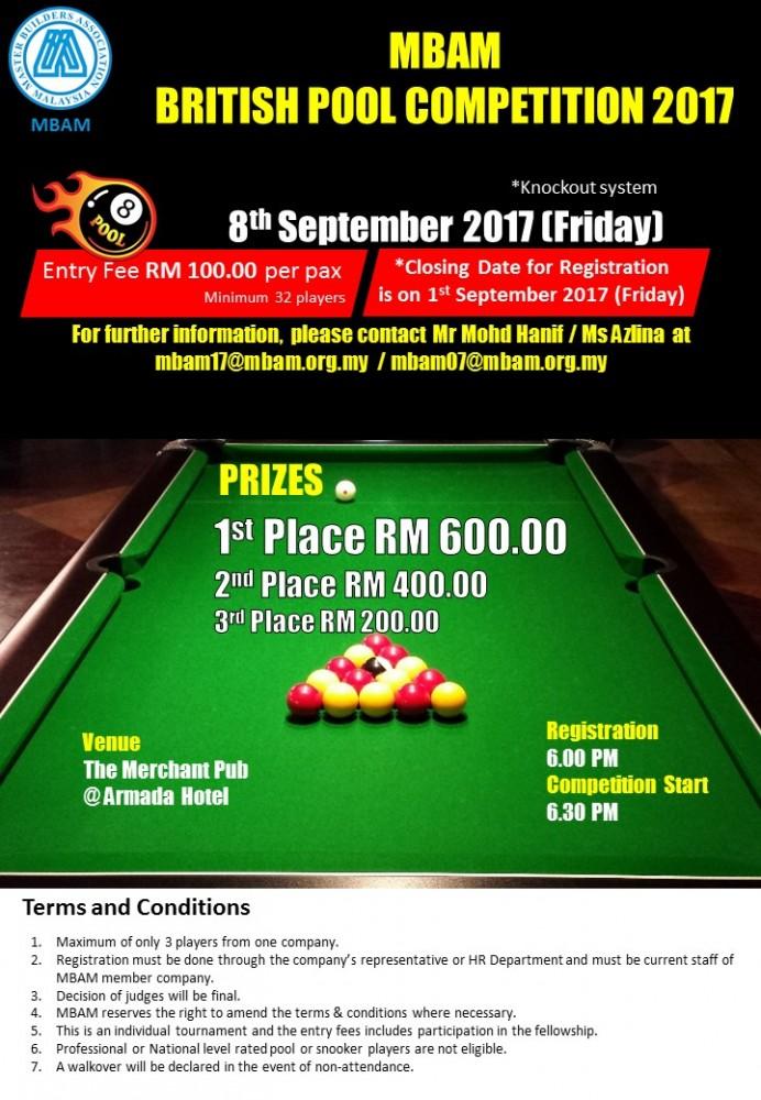 Pool Tournament Flyer 2017v2